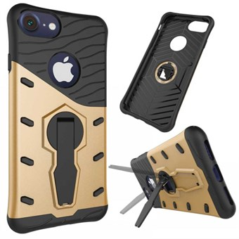 Image of   Stribes plast-/silikonecover til iPhone 7 / iPhone 8 - Guld