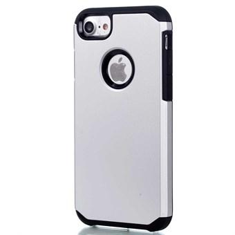 Image of   Simpel plast-/silikonecover til iPhone 7 / iPhone 8 - Sølv