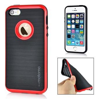 Motomo smart silikonecover til iPhone 5/5S/SE - Rød