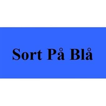 Image of   Sort På Blå 12mm Dymo D1 Tape (45016)
