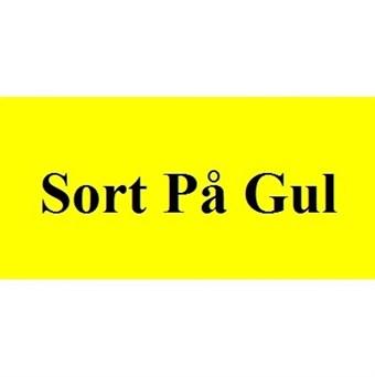Image of   Sort På Gul 19mm Dymo D1 Tape (45808)