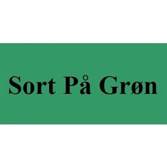 Image of   Sort På Grøn 12mm Dymo D1 Tape (45019)