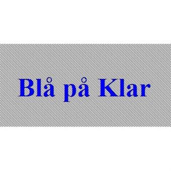 Image of   Blå På Klar 12mm Dymo D1 Tape (45011)