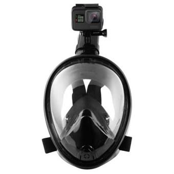 Image of   Puluz® Full Dry Snorkel Mask for GoPro L/XL - Sort