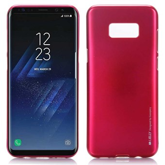 Image of   Goospery I Jelly Cover i TPU til Samsung Galaxy S8 - Rose Rød