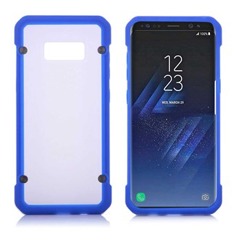 Image of   Clear look Cover i TPU og silikone til Samsung Galaxy S8 - Blå