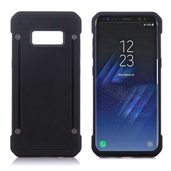 Image of   Clear look Cover i TPU og silikone til Samsung Galaxy S8 - Sort