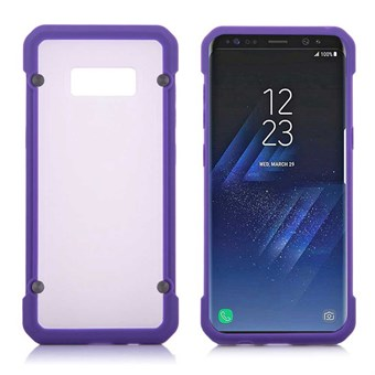 Image of   Clear look Cover i TPU og silikone til Samsung Galaxy S8 - Lilla