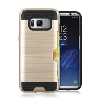 Image of   Cool slide Cover i TPU og plast til Samsung Galaxy S8 - Guld