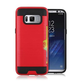 Image of   Cool slide Cover i TPU og plast til Samsung Galaxy S8 - Rød