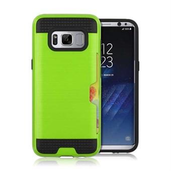 Cool slide Cover i TPU og plast til Samsung Galaxy S8 - Grøn