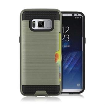 Image of   Cool slide Cover i TPU og plast til Samsung Galaxy S8 - Army Grøn
