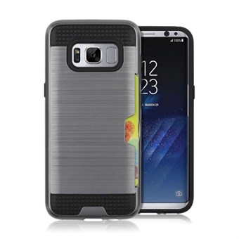 Image of   Cool slide Cover i TPU og plast til Samsung Galaxy S8 - Grå