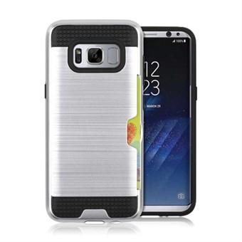Cool slide Cover i TPU og plast til Samsung Galaxy S8 - Sølv