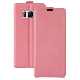Image of   Flavor Flip Etui i TPU og imiteret læder til Samsung Galaxy S8 - Pink