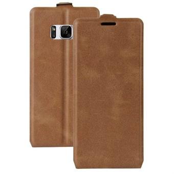 Image of   Flavor Flip Etui i TPU og imiteret læder til Samsung Galaxy S8 - Brun