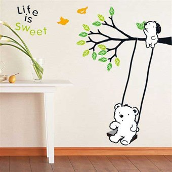 Image of   TipTop Wallstickers Black Tree and Butterfly