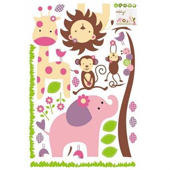 Image of   TipTop Wallstickers Animals United Theme Cartoon Animals