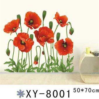Image of   TipTop Wallstickers Attractived Red Poppy Theme