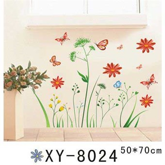 Image of   TipTop Wallstickers Blossoming Flowers and Butterflies