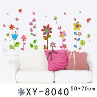 Image of   TipTop Wallstickers Colorized Flowers Design Wall Decals