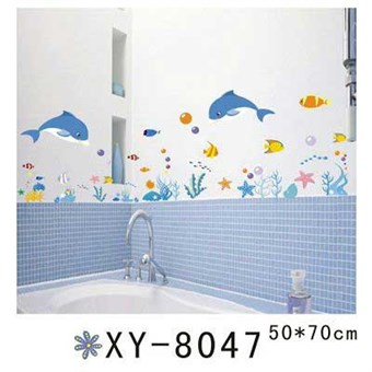 Image of   TipTop Wallstickers Blue Dolphins Design Wall Decals