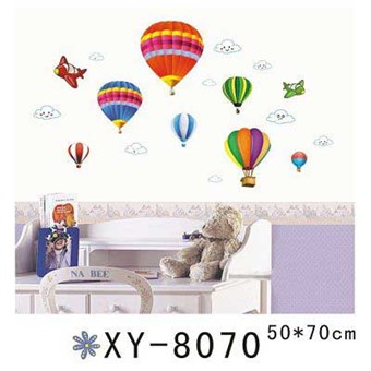 Image of   TipTop Wallstickers Colorized Hot-air BalloonDesign Decoration