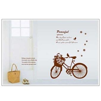 Image of   TipTop Wallstickers Brown Bike Pattern