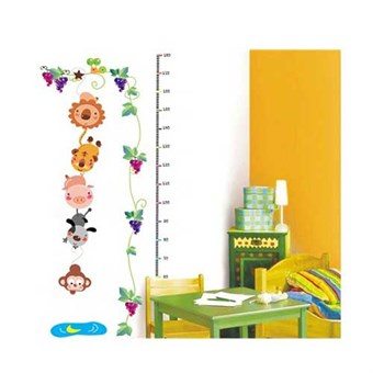 Image of   TipTop Wallstickers Cute Animals Design Kids Height