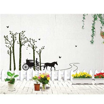 Image of   TipTop Wallstickers Carriage Pattern