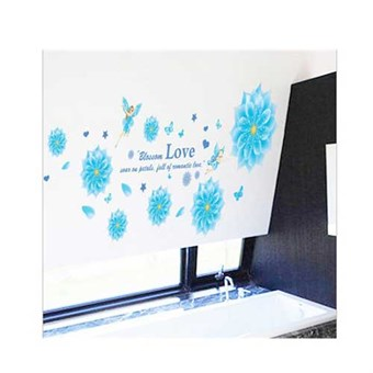Image of   TipTop Wallstickers Blue Flowers Design