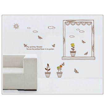 Image of   TipTop Wallstickers AY Window Potted Print
