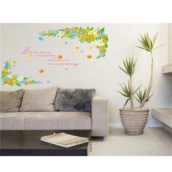Image of   TipTop Wallstickers Beautiful Letter Flower Print