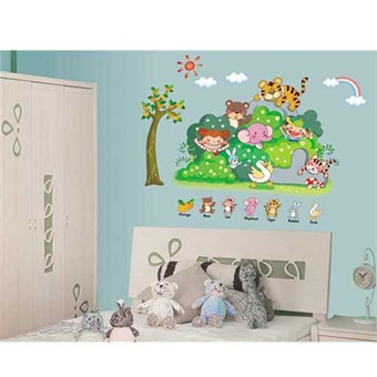 Image of   TipTop Wallstickers 45x 60cm Animals