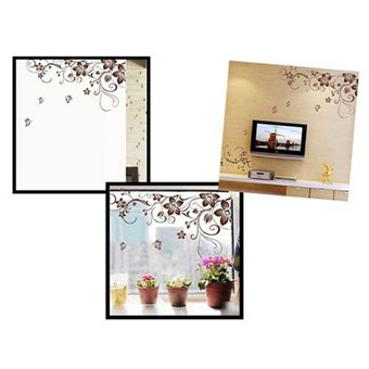 Image of   TipTop Wallstickers Brown Flowers Pattern
