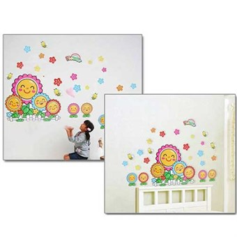Image of   TipTop Wallstickers Cartoon Sunflowers Pattern Style