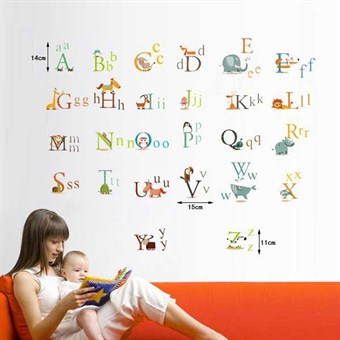 Image of   TipTop Wallstickers Animals English Letters