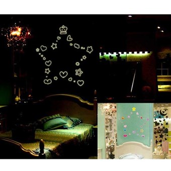 Image of   TipTop Wallstickers Crowm and Bling Star Transparent