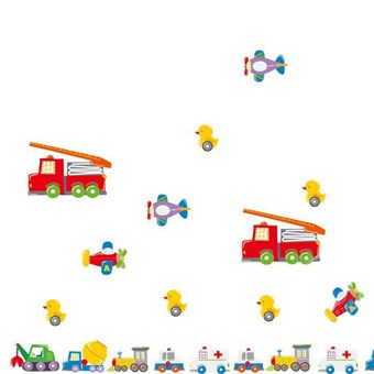 Image of   TipTop Wallstickers Cartoon Truck Design Removable