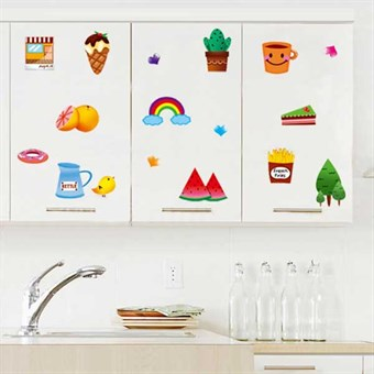 Image of   TipTop Wallstickers Cartoon Dessert and Fruits Design