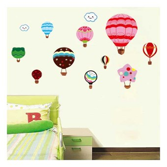 Image of   TipTop Wallstickers Colorful Hot-air Balloon Design Removable