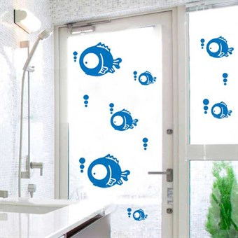 Image of   TipTop Wallstickers Blue Vivid Fish Pattern