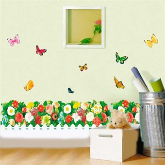 Image of   TipTop Wallstickers (Colorful Flower & Butterfly)