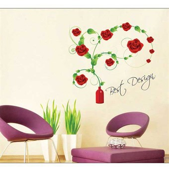 Image of   TipTop Wallstickers (Blooming Rose)