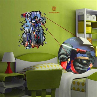Image of   TipTop Wallstickers Cartoon Transformers Pattern