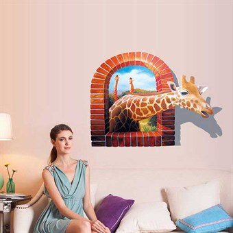 Image of   TipTop Wallstickers 3D Effect Giraffe Pattern