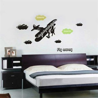 Image of   TipTop Wallstickers Cool Plane Pattern