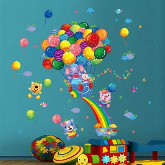 Image of   TipTop Wallstickers Colorful Balloons Pattern