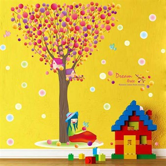 Image of   TipTop Wallstickers Color Dream Tree Pattern