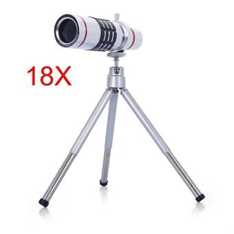 Image of   18x optisk zoom Teleskop m/Tripod til Smartphone og kamera